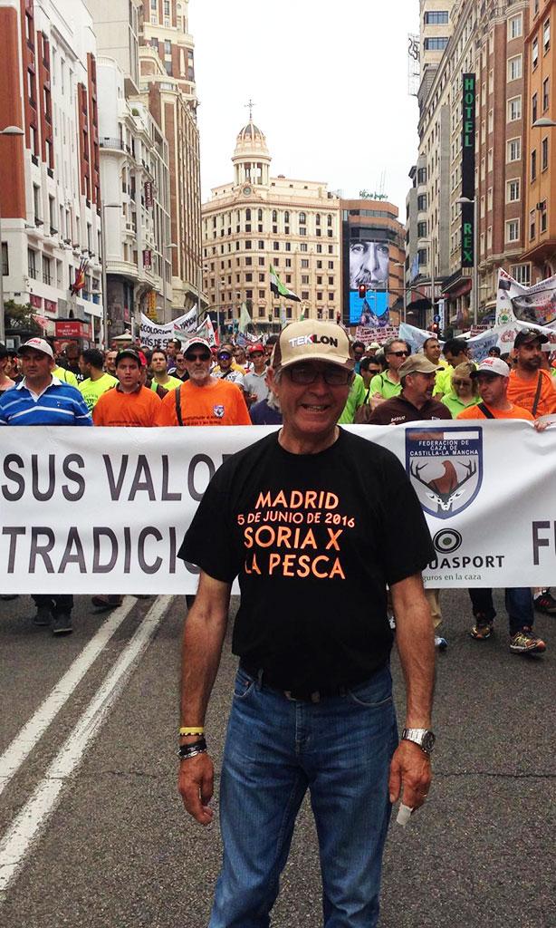 El CDP Campano Soriano se manifiesta en Madrid contra la ley 42/07