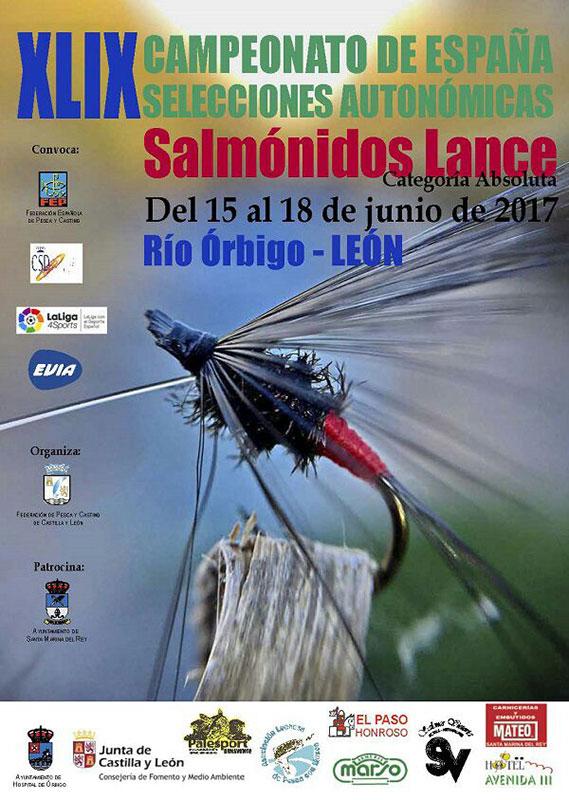 Campeonato de España de salmónidos lance en categoría absoluta